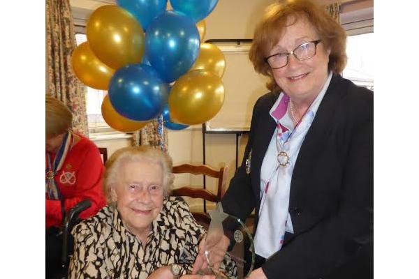 Life time achievement award for Stone's longest serving member!