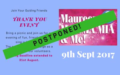 Postponed: Maureen, Mamma Mia & Me!