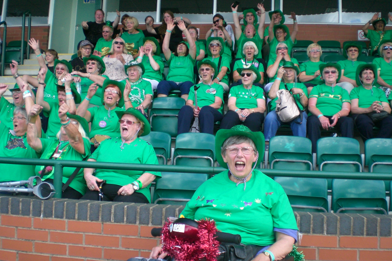 Trefoil Guild Sparkle in Green Sparkly Cowboy Hats