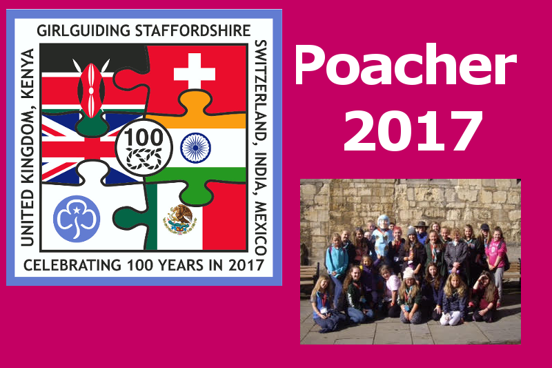Girlguiding Staffordshire Visits Poacher Camp, August 2017