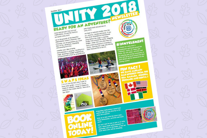 Unity Newsletter – October 2017