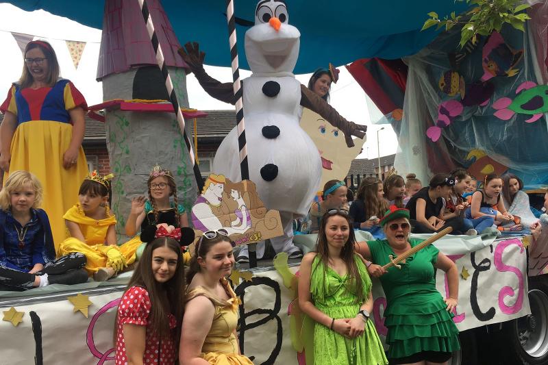 10th Rugeley Brownies Look Fabulous On Disney Inspired Float