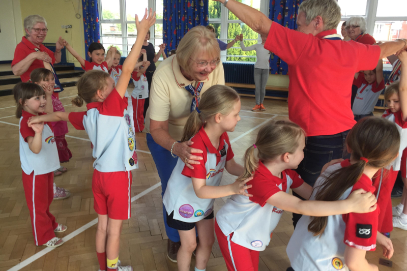 Walton Rainbows Celebrate Trefoil Guild's 75th Birthday