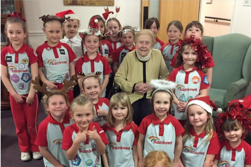 Rainbows Bring Christmas Cheer to the Elderly