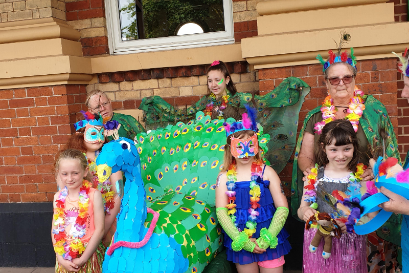 Brownies Join Biddulph Carnival Parade