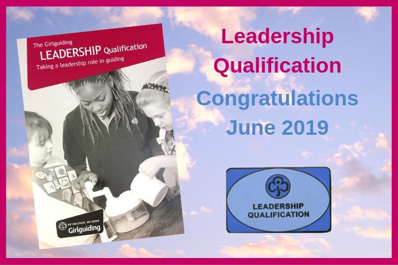 Adult Leadership Qualifications – June 2019