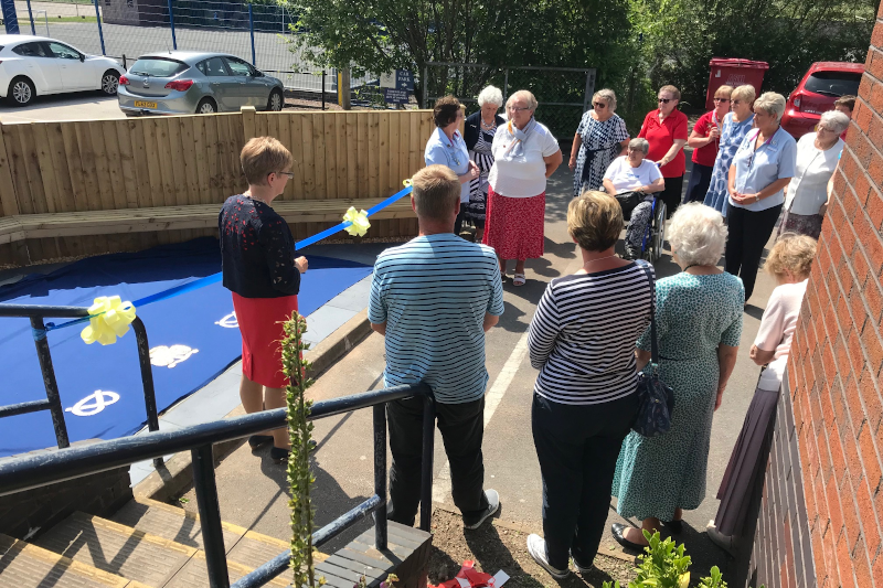 Leek Trefoil Guild Celebrate Opening of New Seating Area