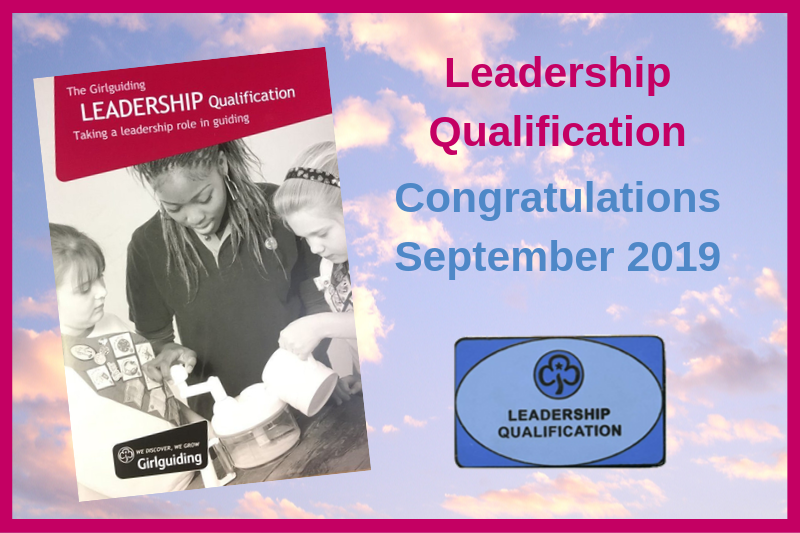 Adult Leadership Qualifications – September 2019