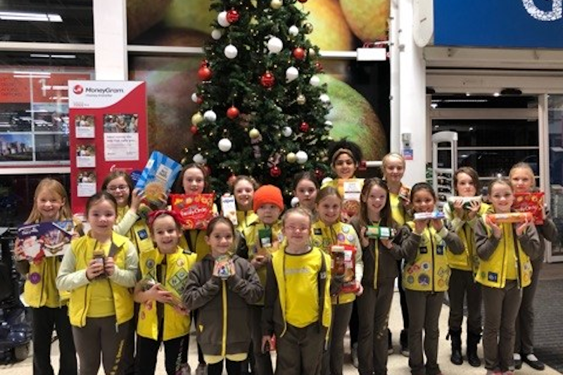 Stafford Brownies Raise Funds To Buy Foodbank Supplies