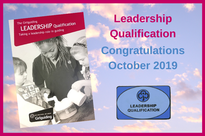 Adult Leadership Qualifications – October 2019