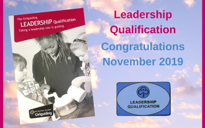 Adult Leadership Qualifications – November 2019