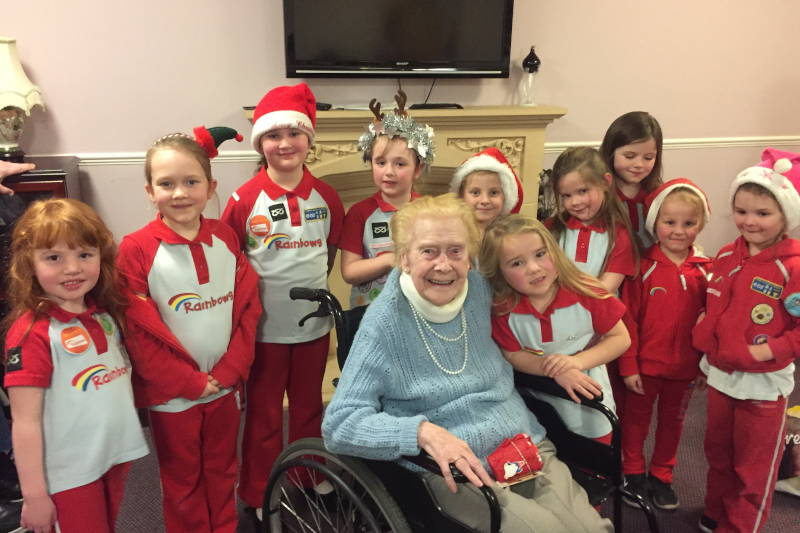 Rainbows bring festive cheer to elderly residents!