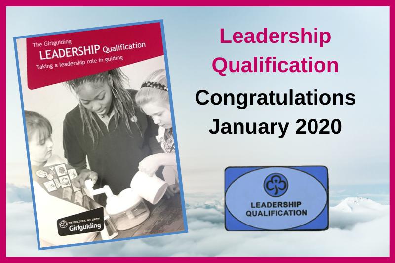 Adult Leadership Qualifications – January 2020
