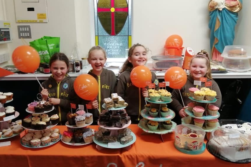 Bake Sale Success for Cannock Rainbows & Brownies