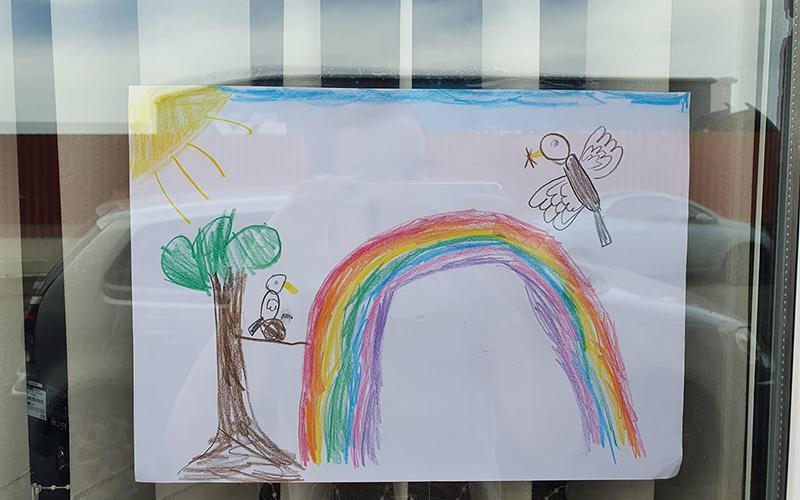 Rainbows of hope across Staffordshire