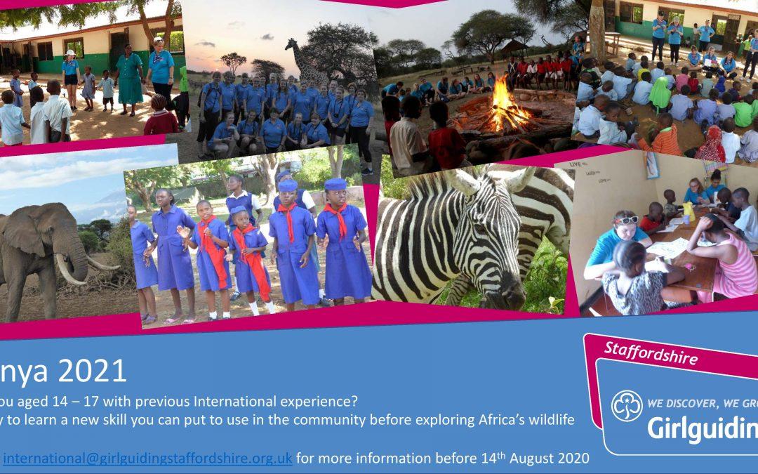 Kenya 2021 – International Opportunity for 14-17 Year Olds