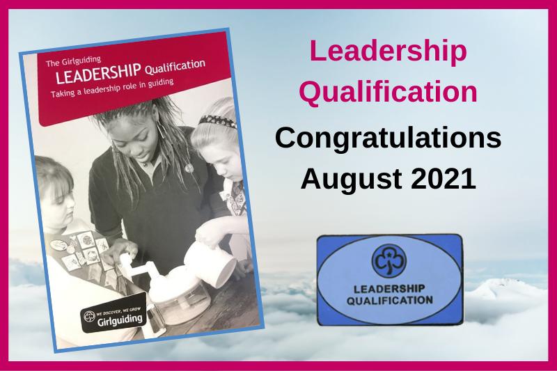 Adult Leadership Qualifications – August 2021