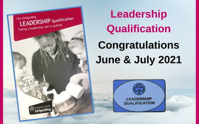 Adult Leadership Qualifications – June/July 2021