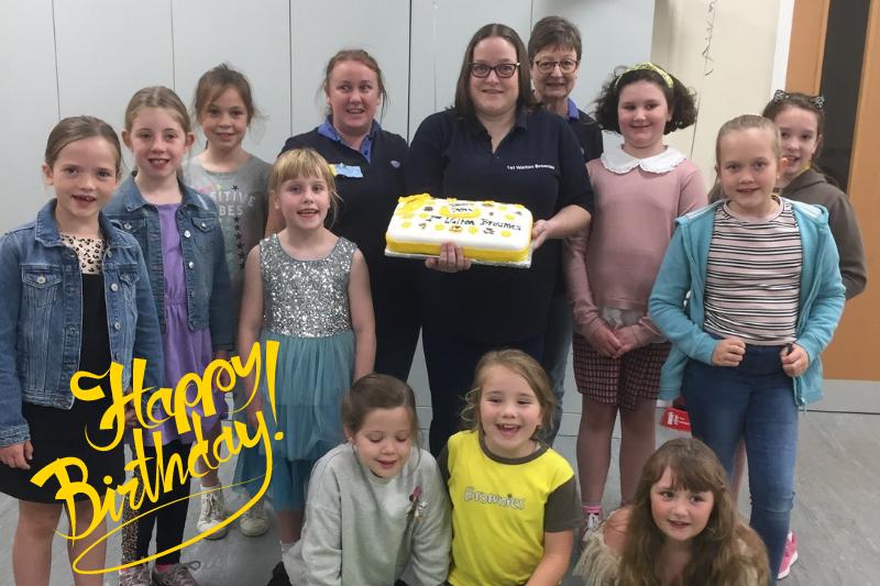 70th birthday celebrations for 1st Walton Brownies!